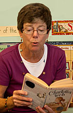 image of jennie fitzkee reading