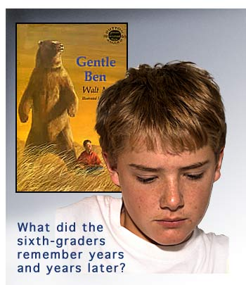 image of sixth-grader recalling book Gentle Ben